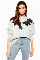 Applique Cable Jumper - Sweaters & Knits - Clothing