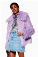 Lilac Mongolian Faux Fur Coat - New In Fashion - New In