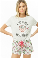 You Make Miso Happy Graphic PJ Set