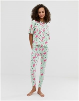 ASOS DESIGN flamingo spot legging pyjama set at asos.com
