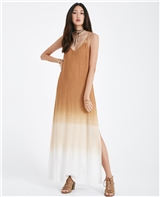 Strappy Back Dip Dyed Maxi Dress