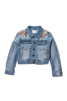 Joe's Jeans | Floral Embroidery Frayed Denim Jacket (Big Girls)