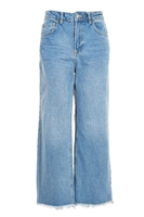 MOTO Mid Blue Cropped Wide Leg Jeans