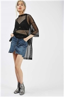 MOTO Patchwork Denim Skirt
