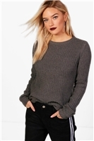 Boohoo NAEllie Crew Neck Fisherman Rib Jumper