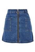 MOTO Patch Pocket A-Line Denim Skirt