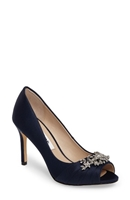 Rumina Embellished Peep Toe Pump